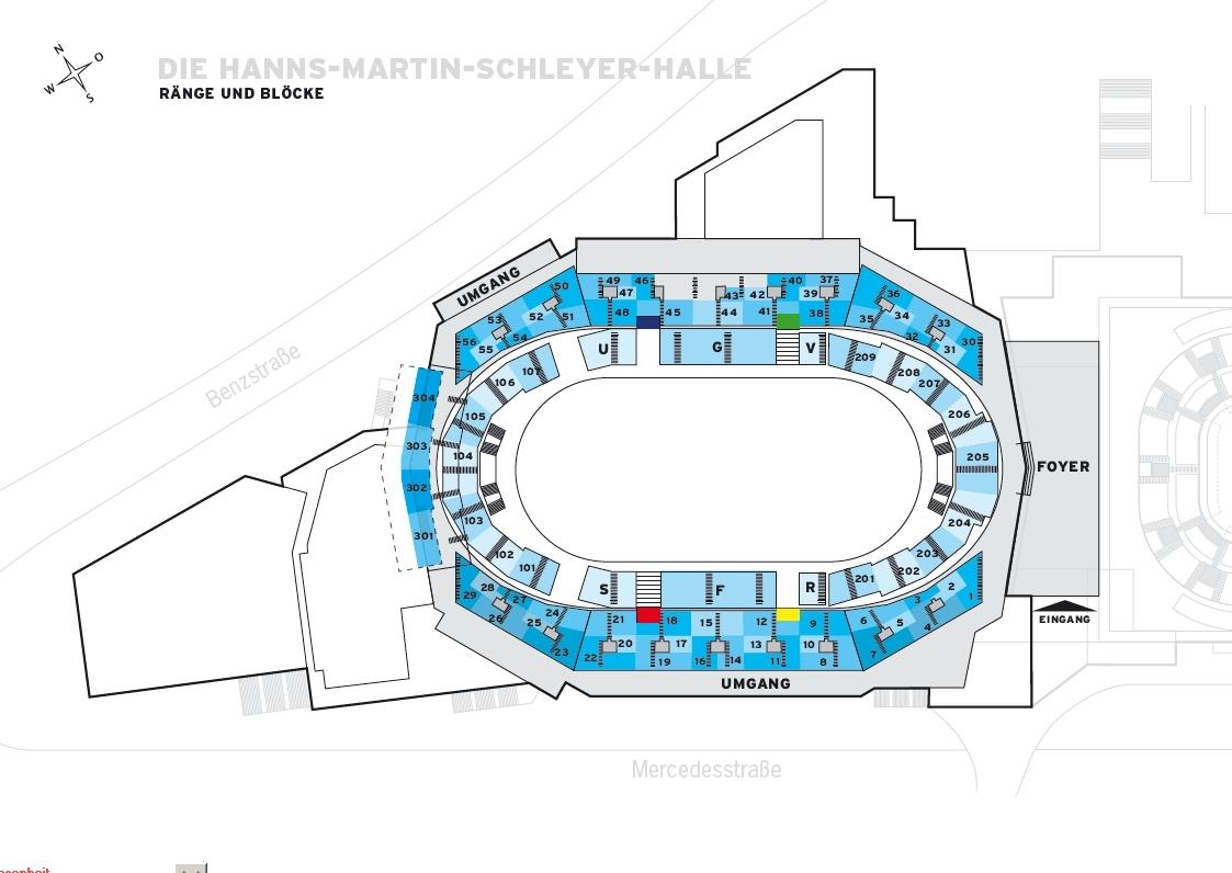 Sitzplätze Hallenduo Im Neckarpark